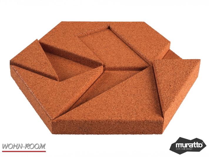 wandverkleidung_kork_hexagon_farben_dekor_organic-blocks_muratto_wandverleidung_akustikpaneel_korkpaneel_wohn-room